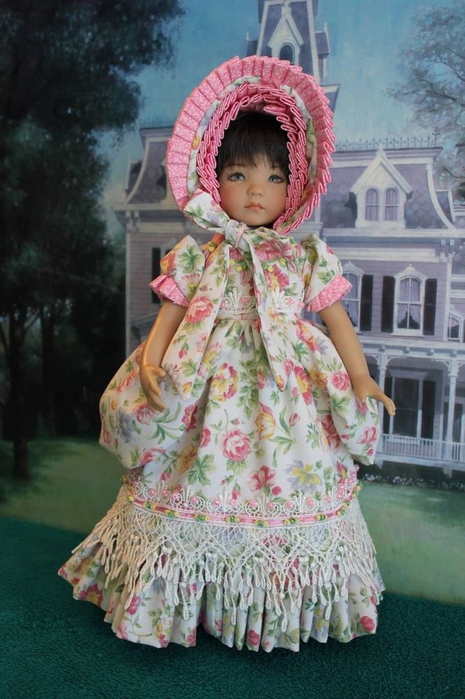"""Elegant Country Peasant Gown Ensemble For Your 13"""" Effner's Little Darling Doll"""
