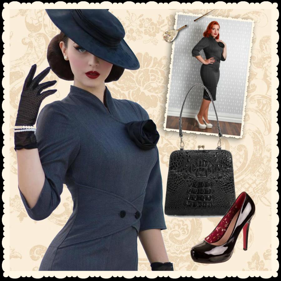 robe glamour r tro coupe ann es 50 idda van munster pour. Black Bedroom Furniture Sets. Home Design Ideas