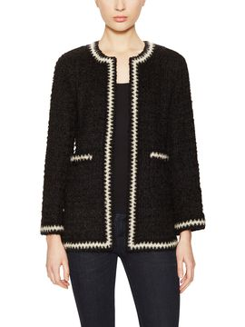 Black & White Mohair Trim Jacket from The Cool Girl's Guide to Vintage Chanel on Gilt
