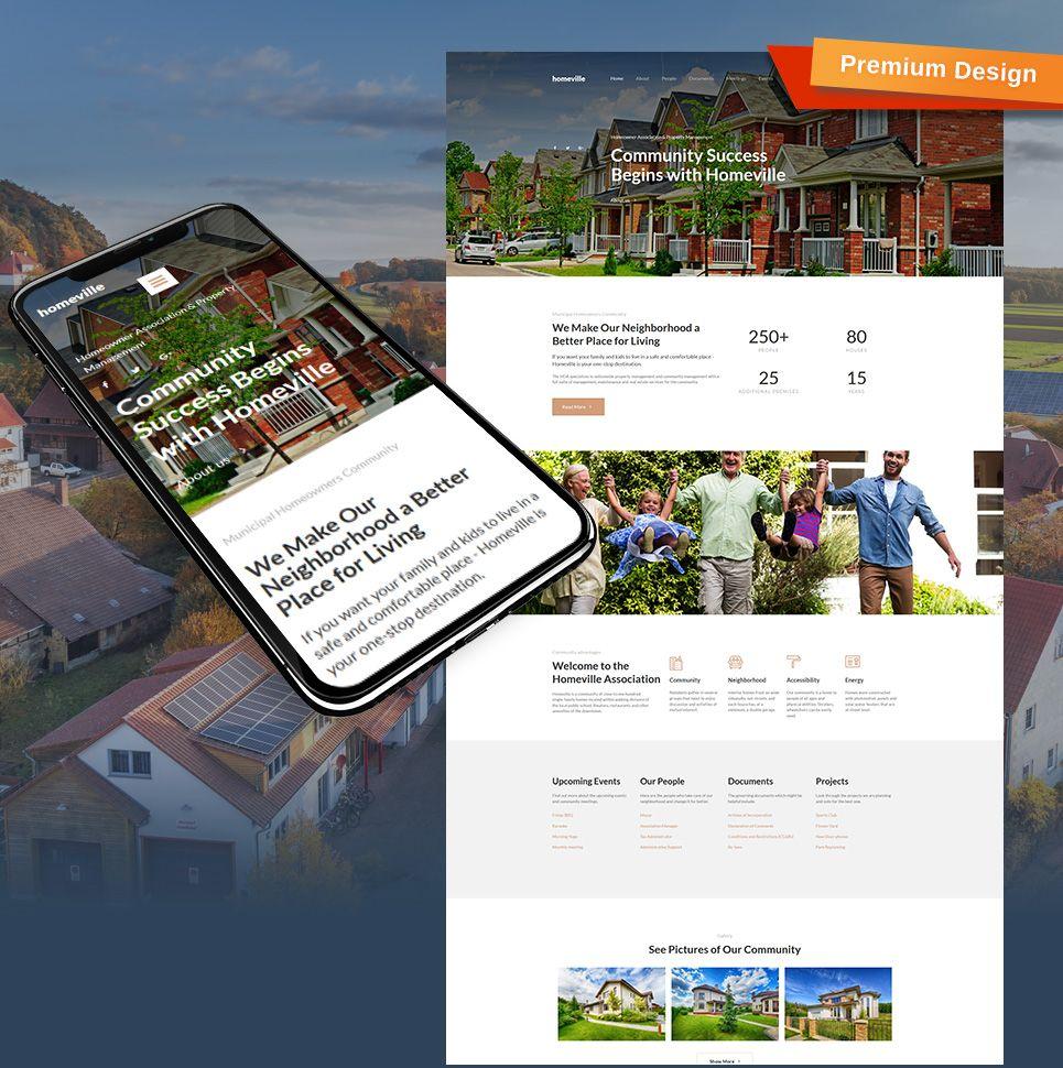 Homeville - Homeowners Association Premium Moto CMS 3 Template ...