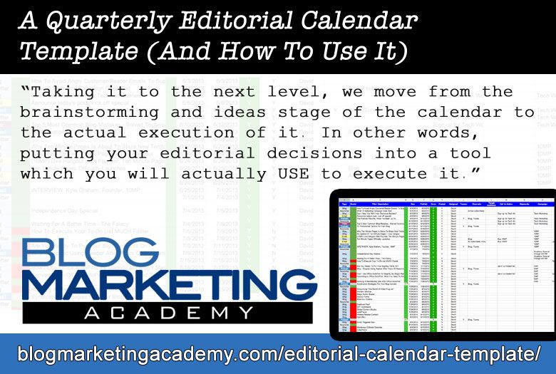 Here\u0027s a guide to the editorial calendar template I use to plan blog