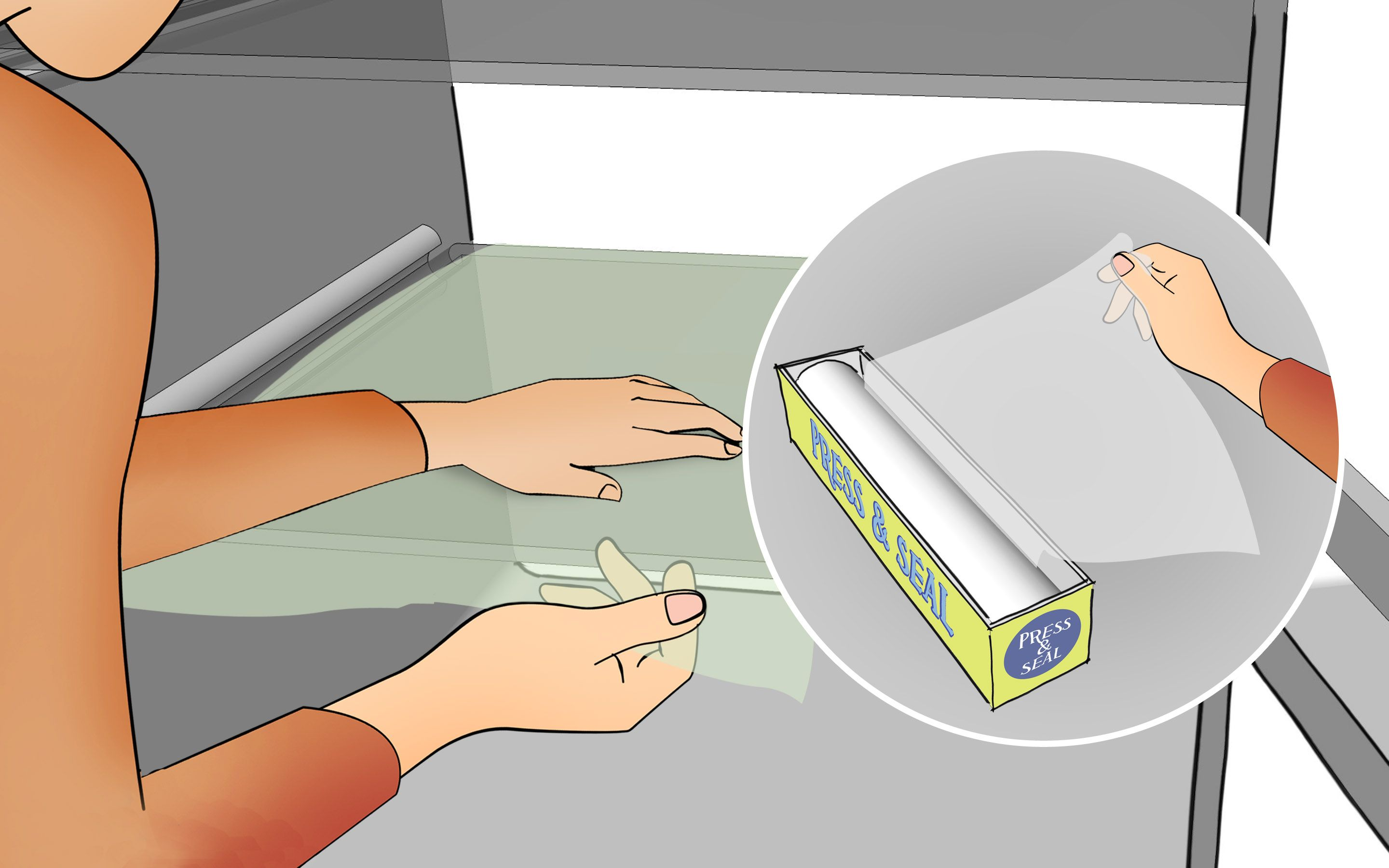 Cover Refrigerator Shelves in Plastic Wrap   wikiHow Tips