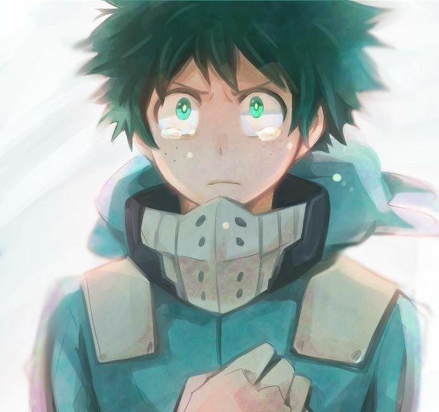 """Midoriya """"Deku"""" Izuku, Crying, Salute; My Hero Academia"""