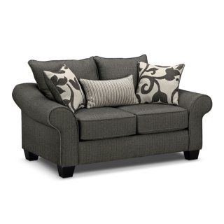 Colette Gray Loveseat Value City Furniture Furniture Couch And