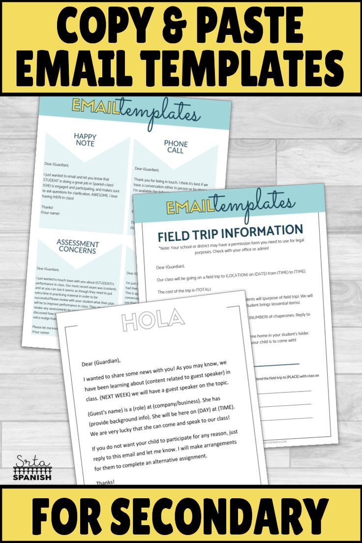 Photo of EDITABLE Parent Email Templates and Forms