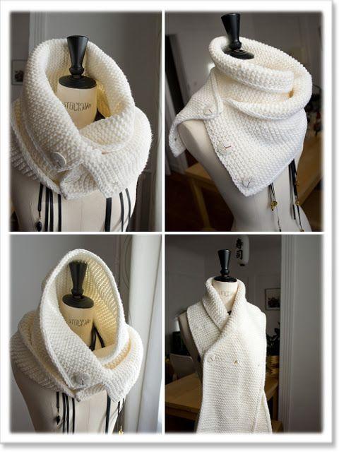 Modèle tricot gratuit : Le Snood Caméléon | Pelotes de laine ...