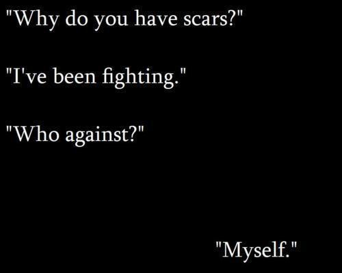 Depression Self Harm Scars Klacreature Words Pinterest