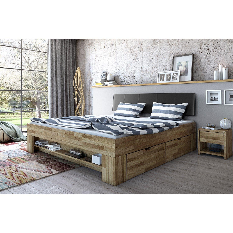 Massivholzbett Castlecoote Bett Eiche Rustikale Schlafzimmermöbel Futonbett