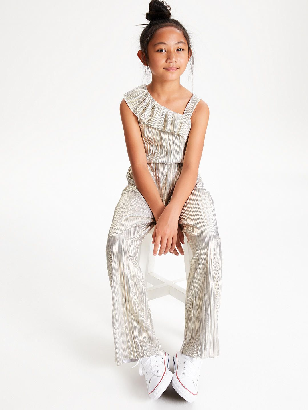 look for price separation shoes John Lewis & Partners Pleated Jumpsuit, Silver | Clothes for ...