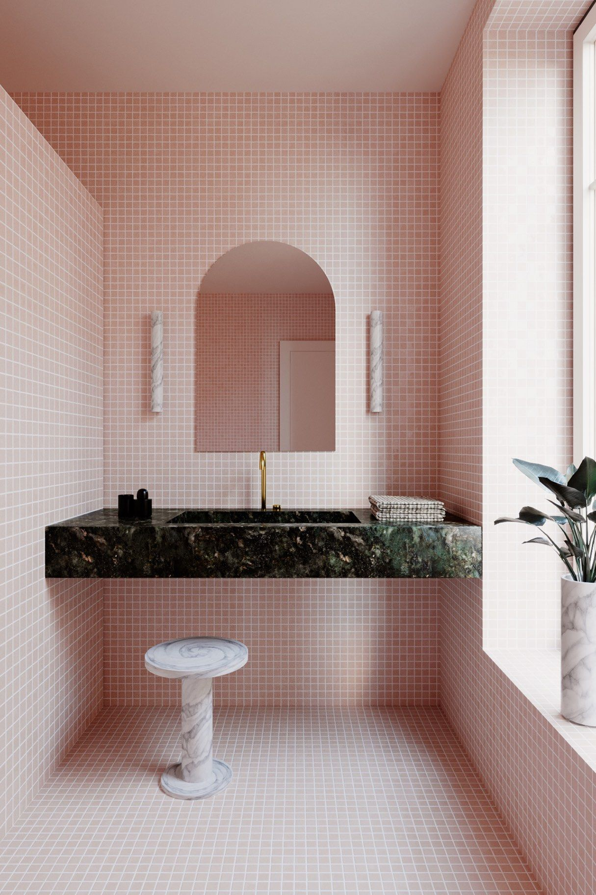 Benjamin Guedj — Little Pink Bathroom | Pink bathroom