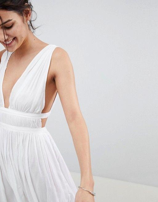 b20e09a0dc DESIGN Grecian Plunge Maxi Woven Beach Dress | Miami 2018 | Dresses ...