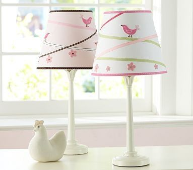 Lamp pottery barn kids penelope ribbon shade madison touch base by elsie