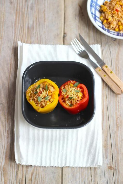 opgevulde paprika (vegetarisch)