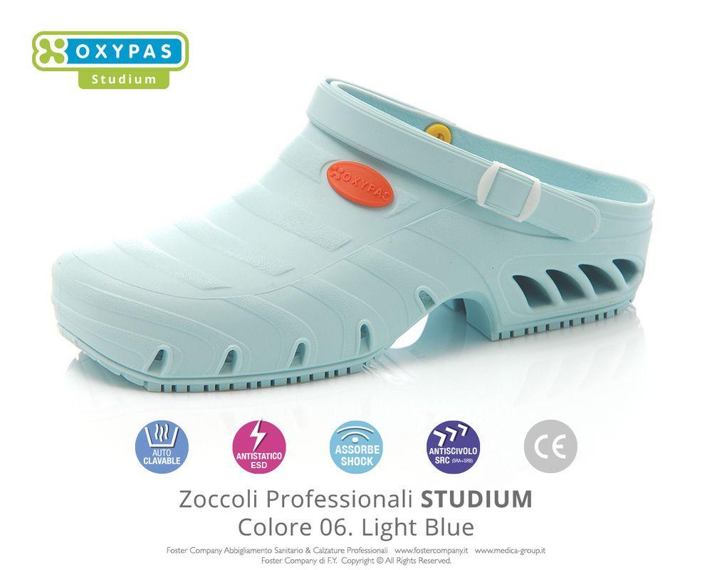 lucentezza adorabile prestazione affidabile moda di lusso Zoccoli Professionali Oxypas STUDIUM Colore 06. Light Blue ...