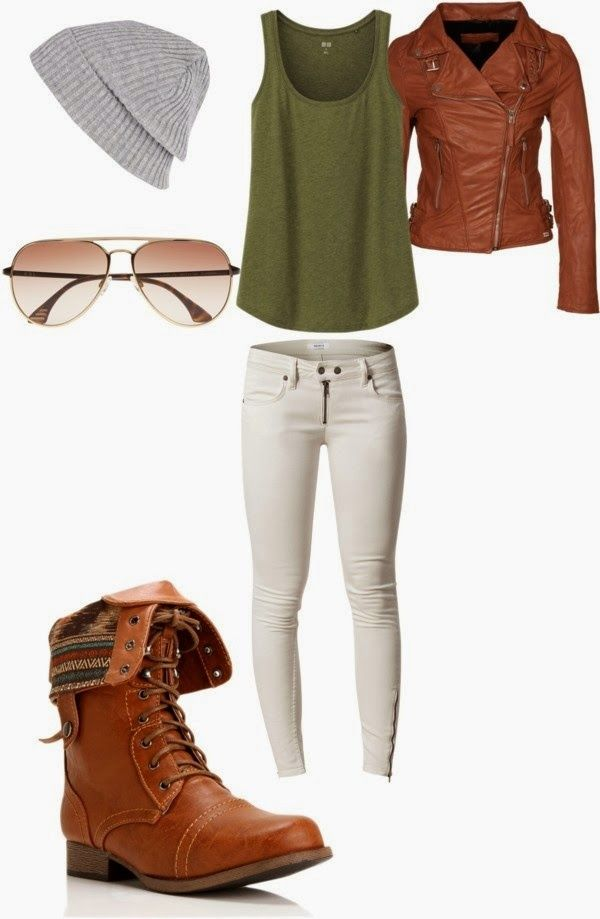 Love this... except the hat. It'd make me look like a boy with this outfit.