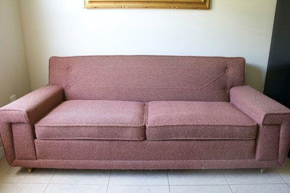 Miraculous Vintage Mid Century Modern Kroehler Sofa Vintage 1950S Creativecarmelina Interior Chair Design Creativecarmelinacom