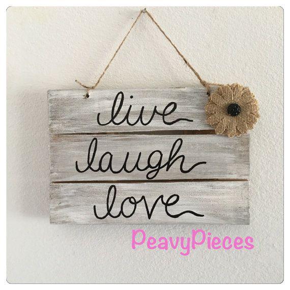 Live Laugh Love Wedding Decor Shabby Chic Rustic Love Sign