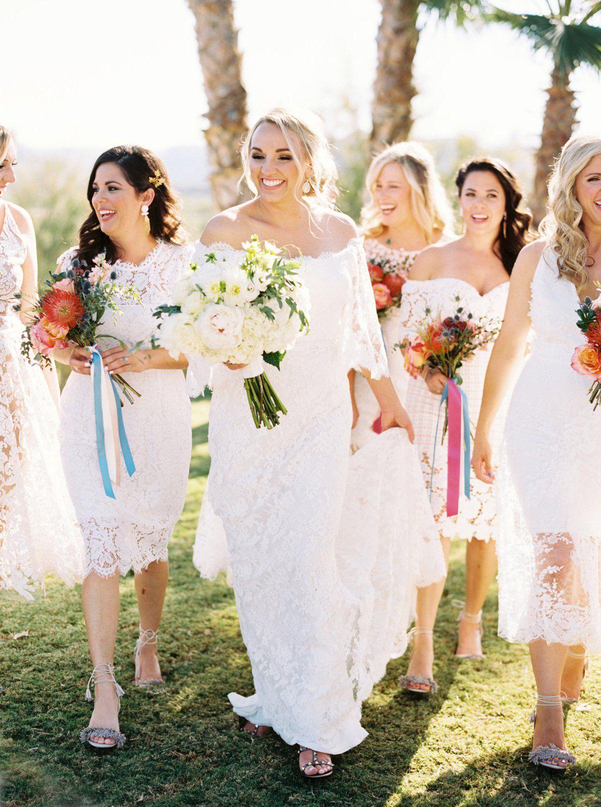 Colorful Texas Wedding By Hannah Mayson Southern Weddings Austin Wedding Photography White Wedding Dresses White Bridesmaid