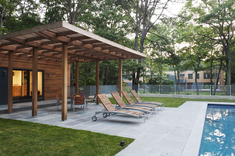 pergola roof ideas patio modern with awning cedar concrete deck - Awning Ideas For Patios