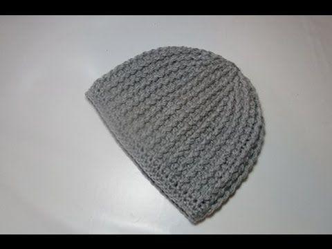 bde1193ba6e Crochet Uncinetto Cappello tutorial passo a passo - YouTube Knitted Hats