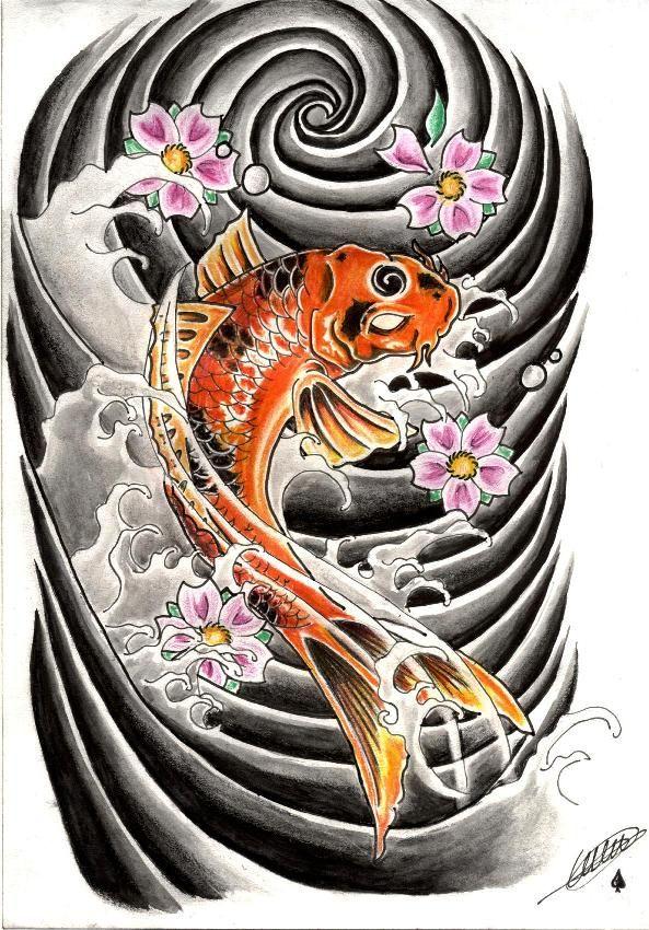 Koi Tattoo By Catfromhell On Deviantart Koi Tattoo Japanese Tattoo Koi Koi Tattoo Design