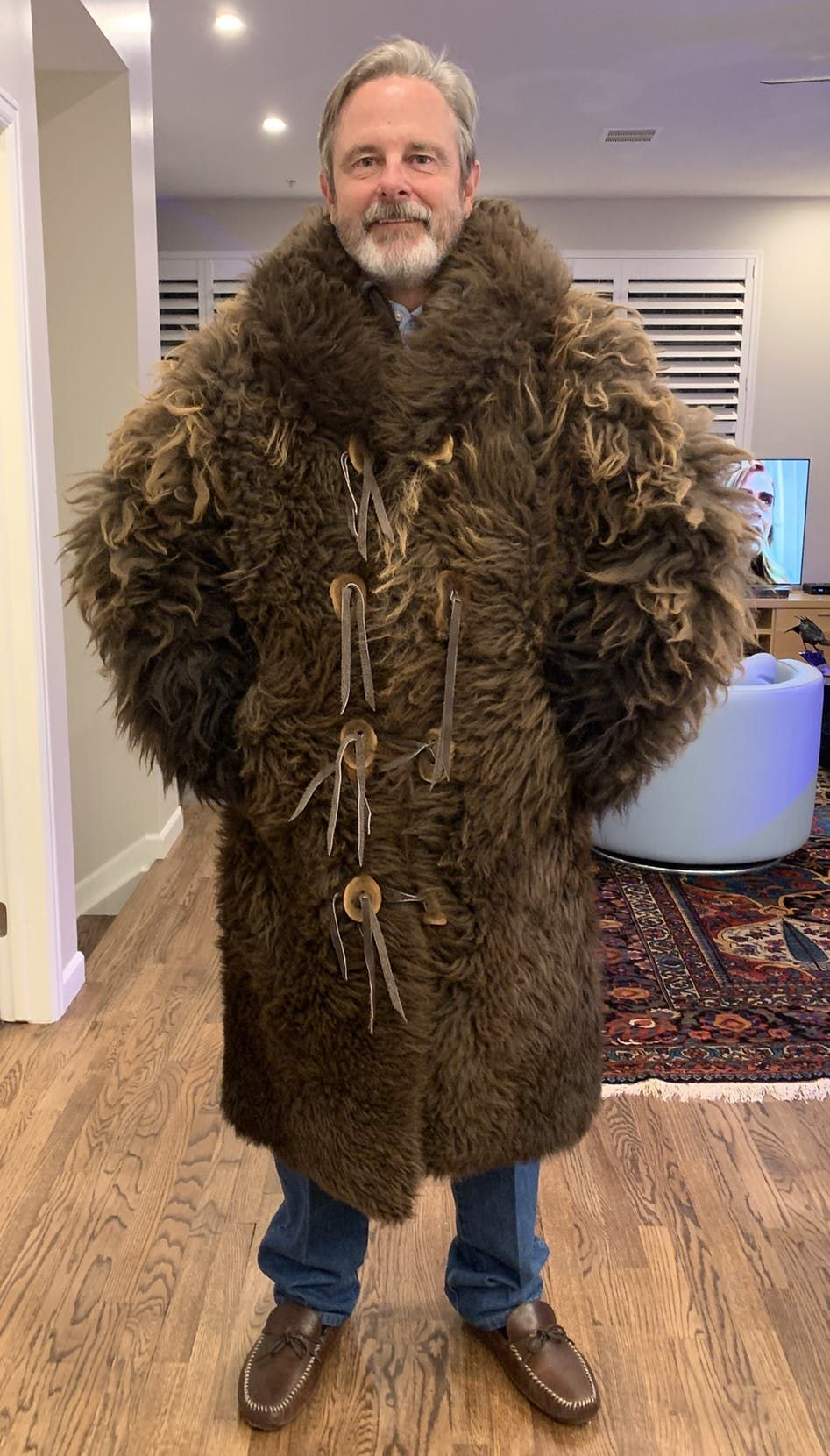 Natural Buffalo Fur Coat Full Length Custom Tailored Handmade In Usa Mens Fur Coat Fur Coat Fur Clothing