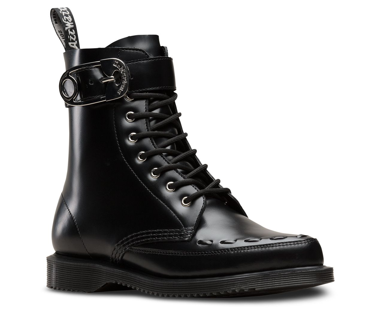6abb8c936 The Geordin is a slim 8-eye boot blending sophisticated style with tons of  classic Docs attitude — thanks to punk-inspired details like a pointed  Creeper ...