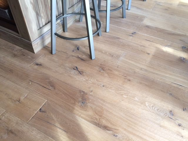 Wide Plank Engineered Wire Brushed Oak E Certified For