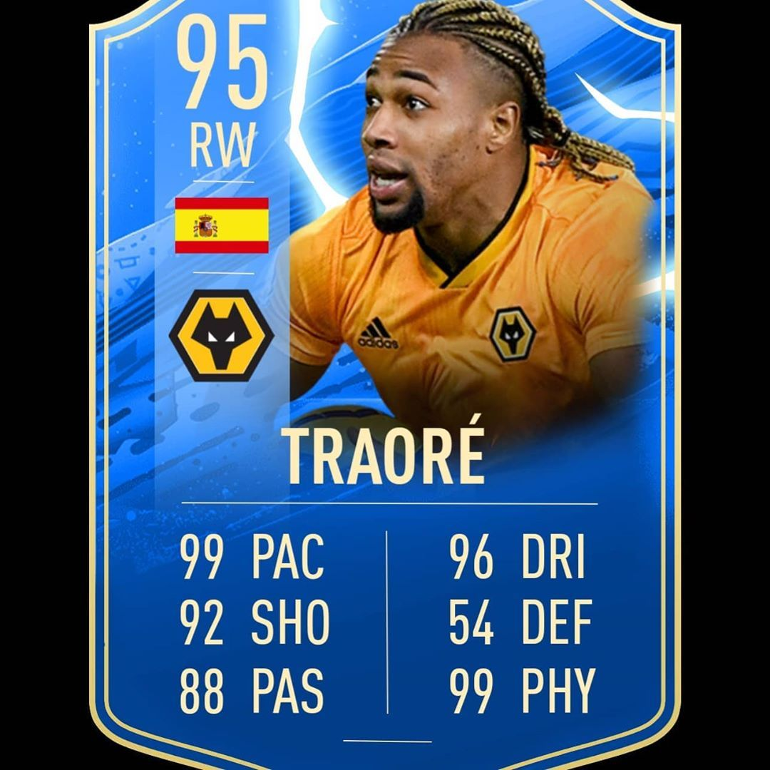 Adama Traore Tots Card Would You Like This Card Or Too Op Who Is Next Fifa20 Fifa Fut Adama Traore Wolverhampt In 2020 How Are You Feeling Wolverhampton Cards