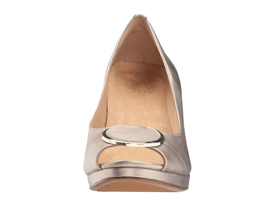 751375b33381 Naturalizer Ollie Women s Wedge Shoes Champagne Metallic Leather   CuteWomenShoesMaryJanes