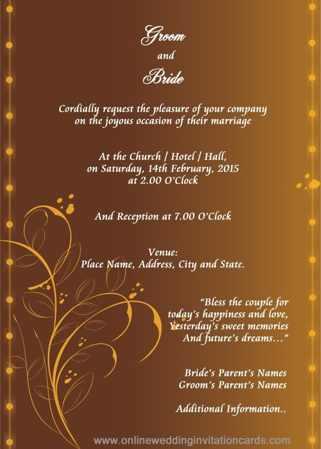 Elegant Gold Border And Motifs On Indian Reception Invitation Cards Wedding Reception Cards Reception Invitations Wedding Reception Invitations