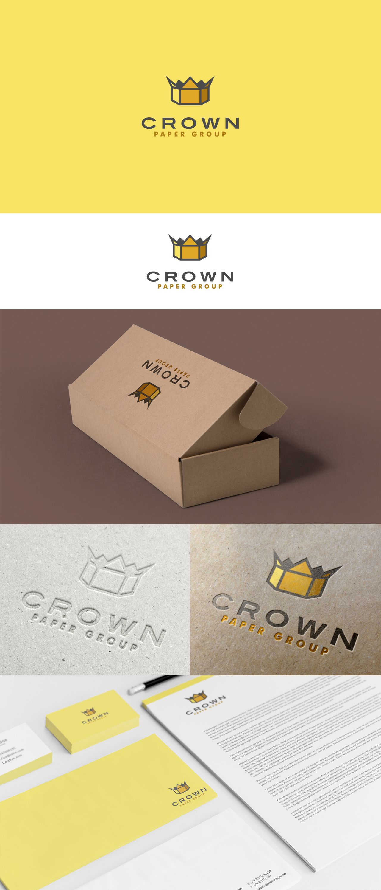 Crown Paper Group Is Comprised Of A Paper Mill That Produces Brown Paper For Use In Cardboard Boxes I Logo Design Graphic Design Logo Creative Graphic Design