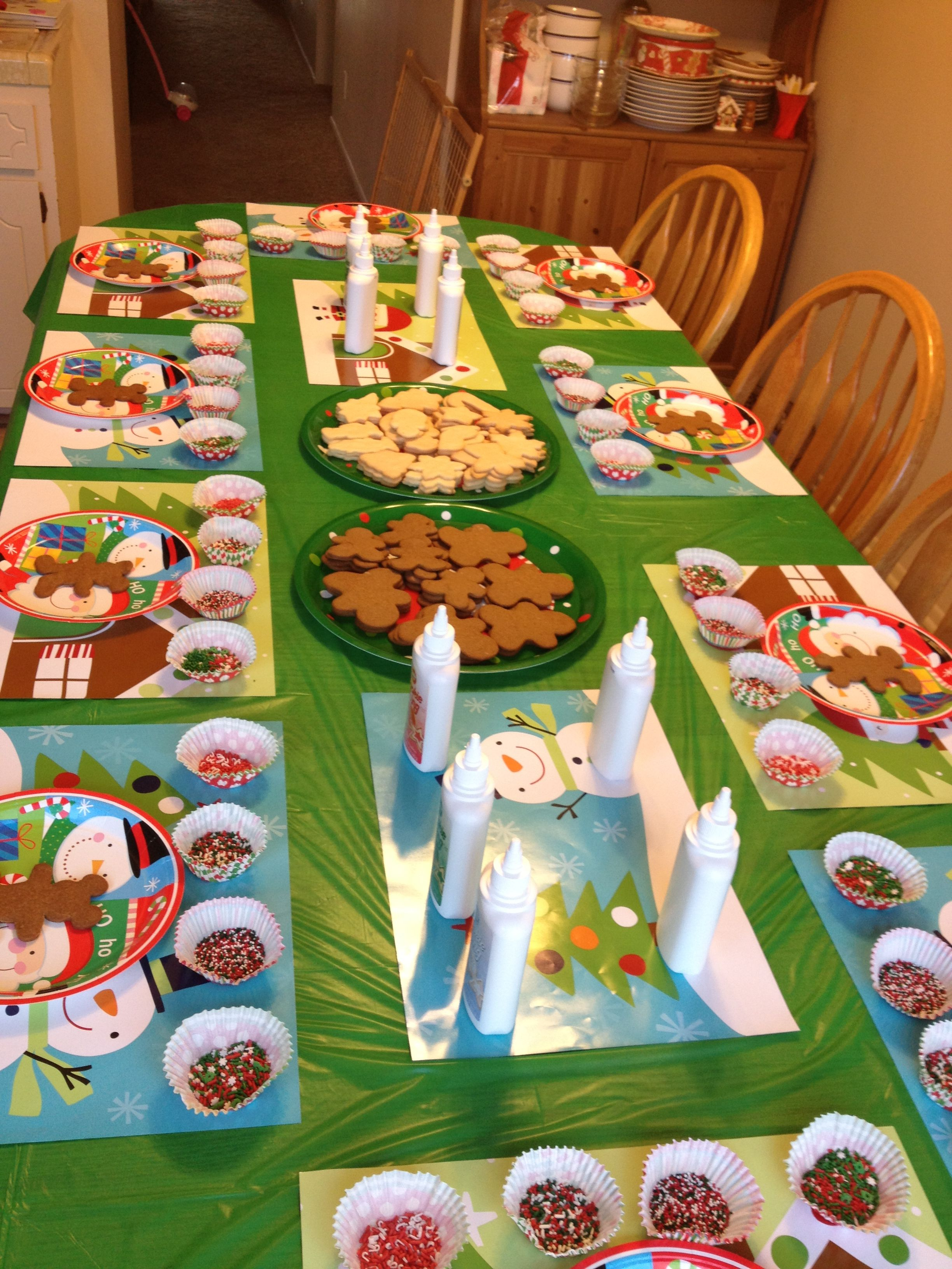 our girl scout holiday cookie decorating party we had so much fun could tie