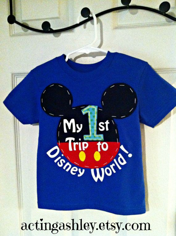 My First 1st Trip to Disney World Shirt for Boys by ActingAshley