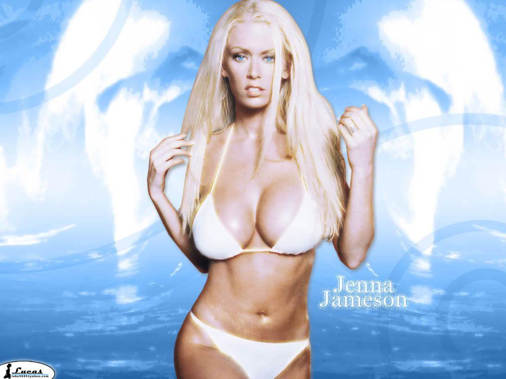 Jenna jameson white bikini