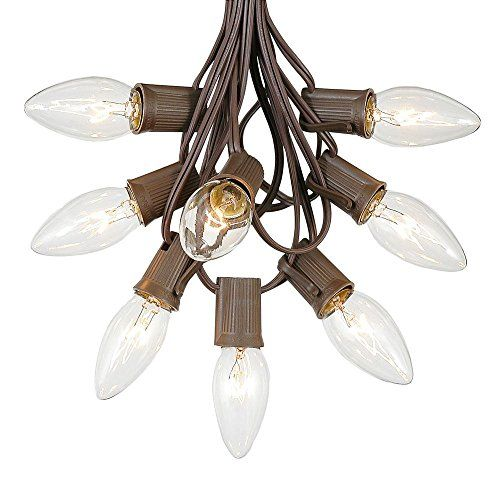 C9 Clear Christmas Lights Set IndoorOutdoor Christmas Light String ...