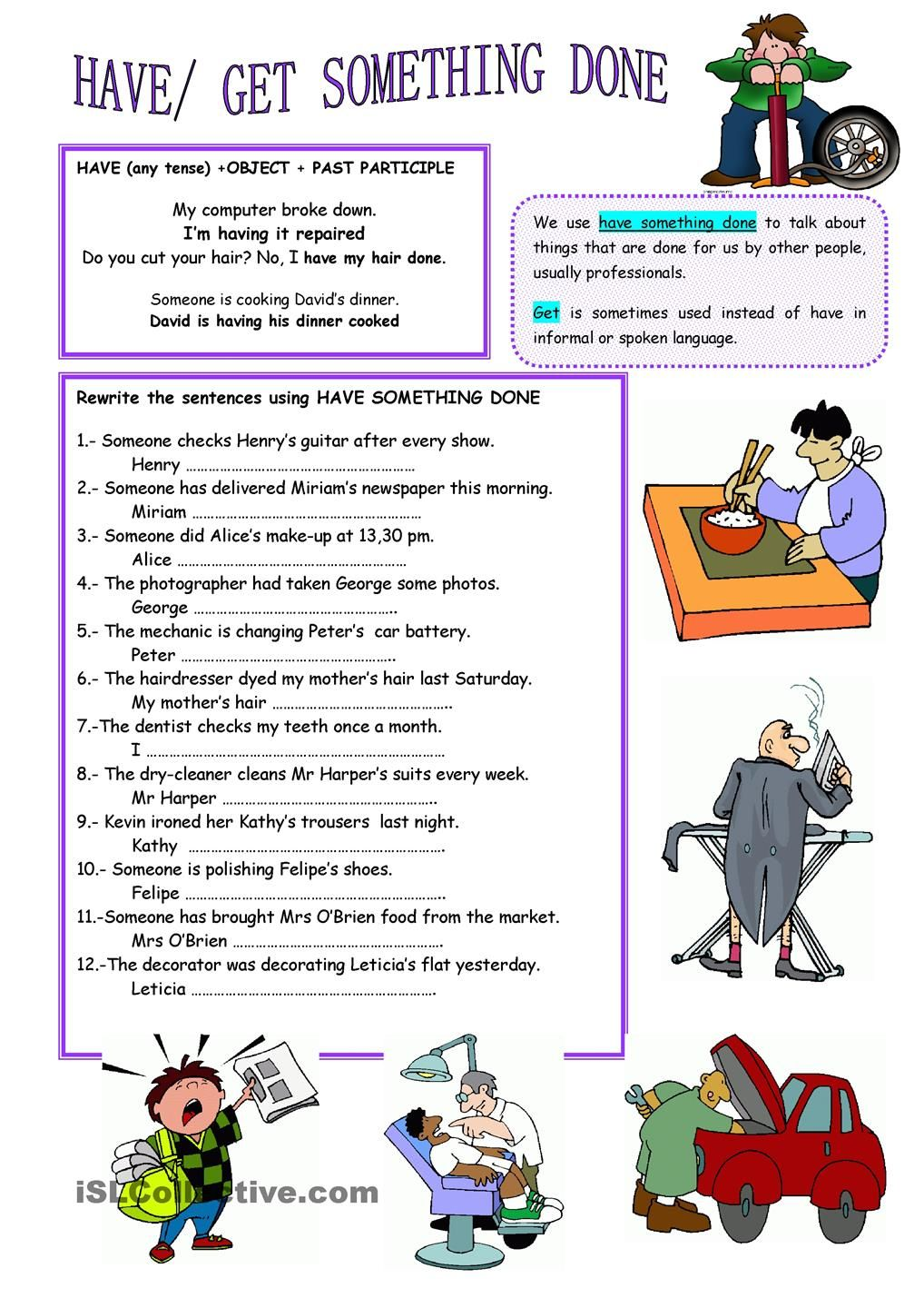 Have Something Done English Teaching Materials Teaching English Language Learners Teaching English [ 1440 x 1018 Pixel ]