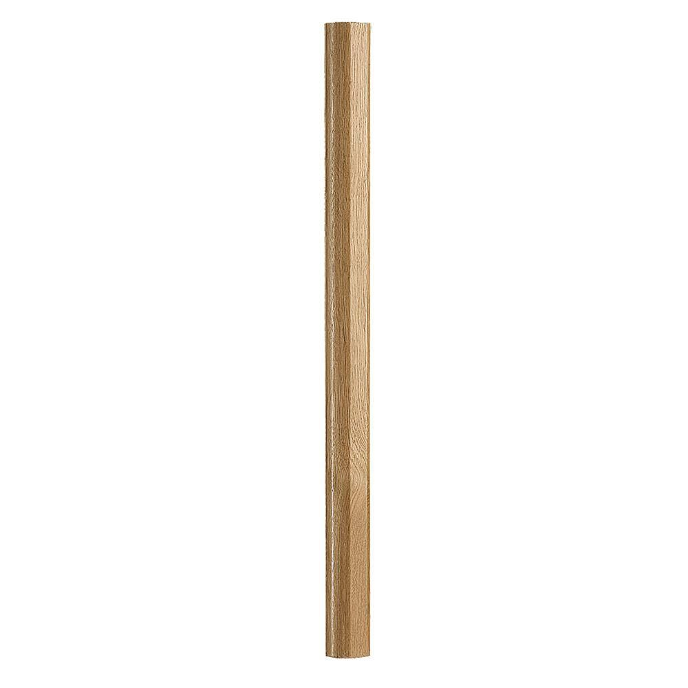 Best Fusion 32 1 4 In Prefinished Oak Newel Post 4001419 Oak 640 x 480