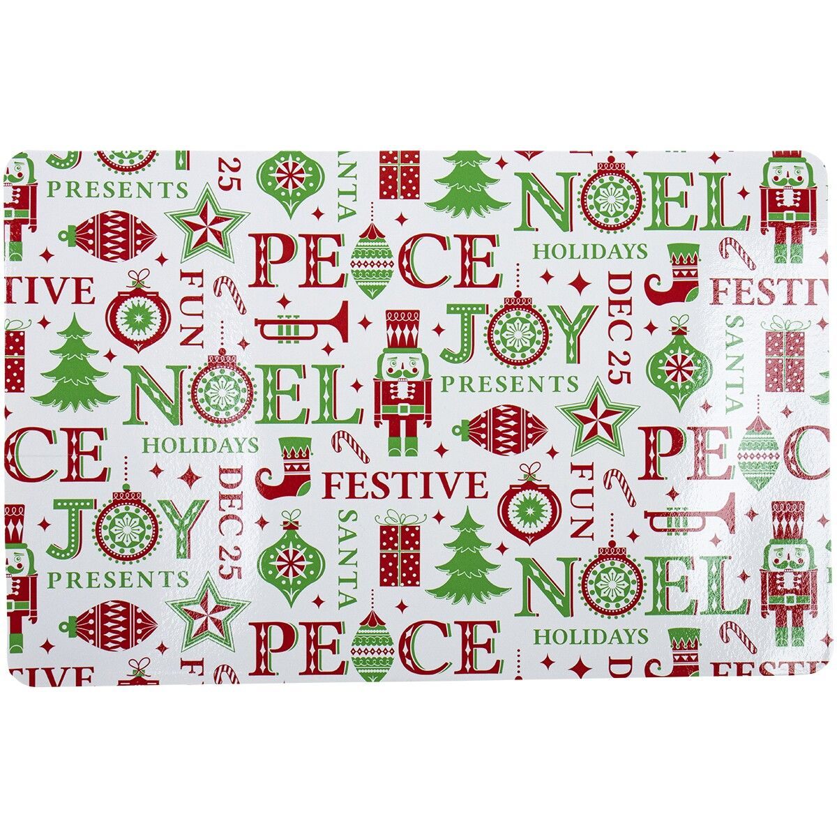 Christmas Pvc Festive Placemat White In 2020 Placemats Christmas Articles Christmas Table