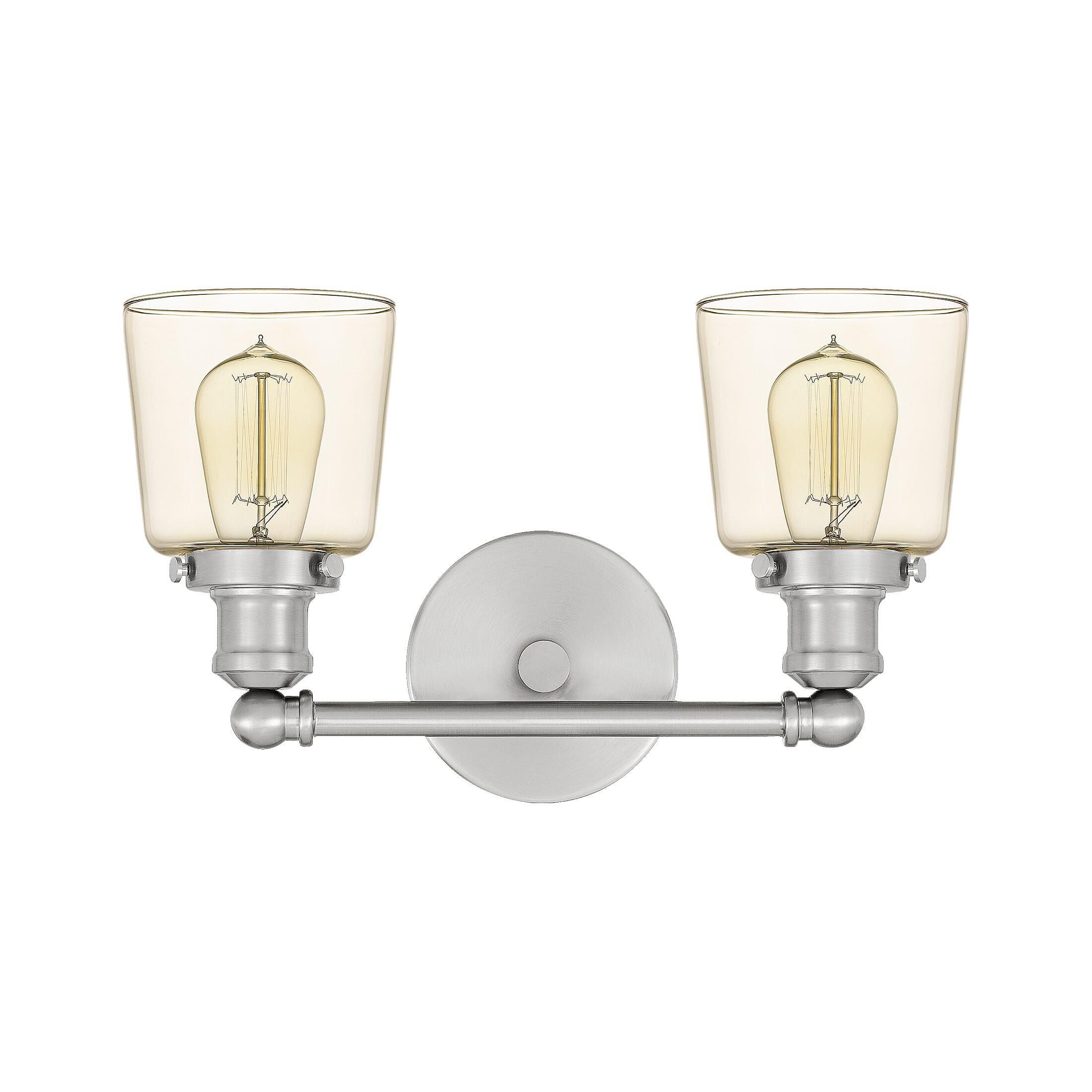Photo of Quoizel Union 2-Light 9″ Bathroom Vanity Light in Brushed Nickel