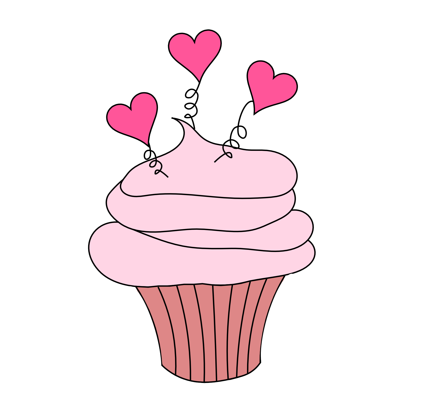 This Cupcake Image With Little Hearts is Perfect for Valentine\'s Day ...