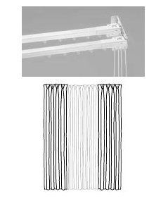 Double Traverse Rods 84 156 Two Way Draw Double Rod Curtains