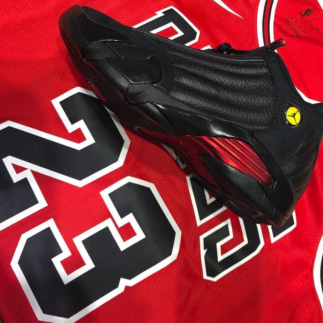 "save off e6aeb bf5d1 AIR JORDAN 14 ""LAST SHOT"" & Michael Jordan swingman jersey ..."