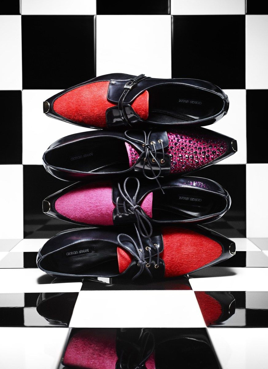 Kick-start your day in these standout Armani lace-up shoes