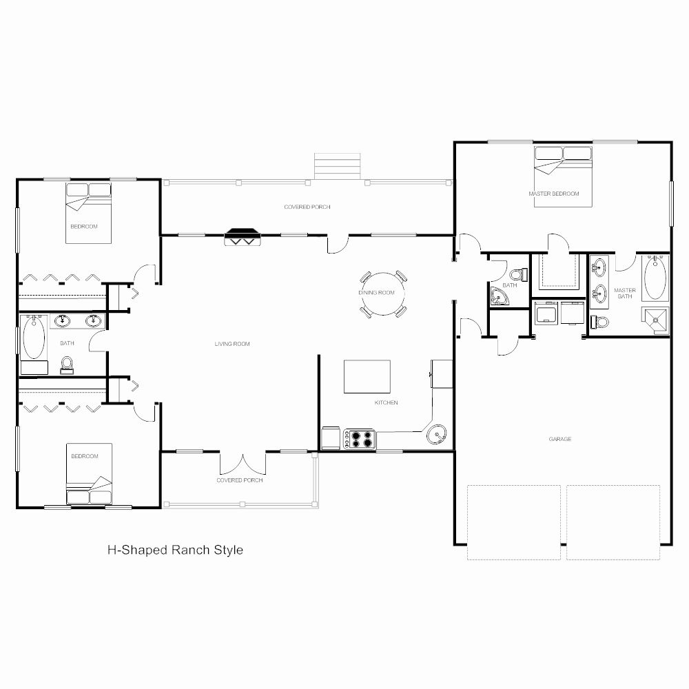 Blank Floor Plan Template Inspirational Floor Plan Templates Draw Floor Plans Easily With Templates Free Floor Plans Floor Plan Design Floor Plans