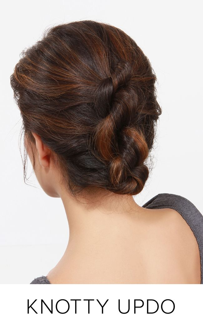 Holiday Hair Round Up at LuLus.com!   Hair styles, Hair updos, Prom hairstyles for short hair