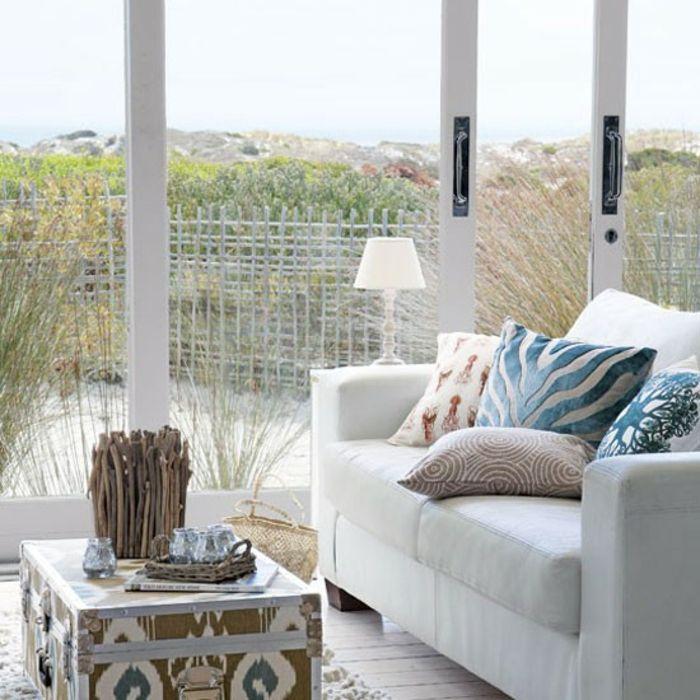 Maritime Deko Krake Blau Wohnzimmer Sofa | Home Farm House & Beach