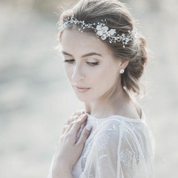 Wedding Headband , Bridal Headband , Crystal Headband , Wedding ...