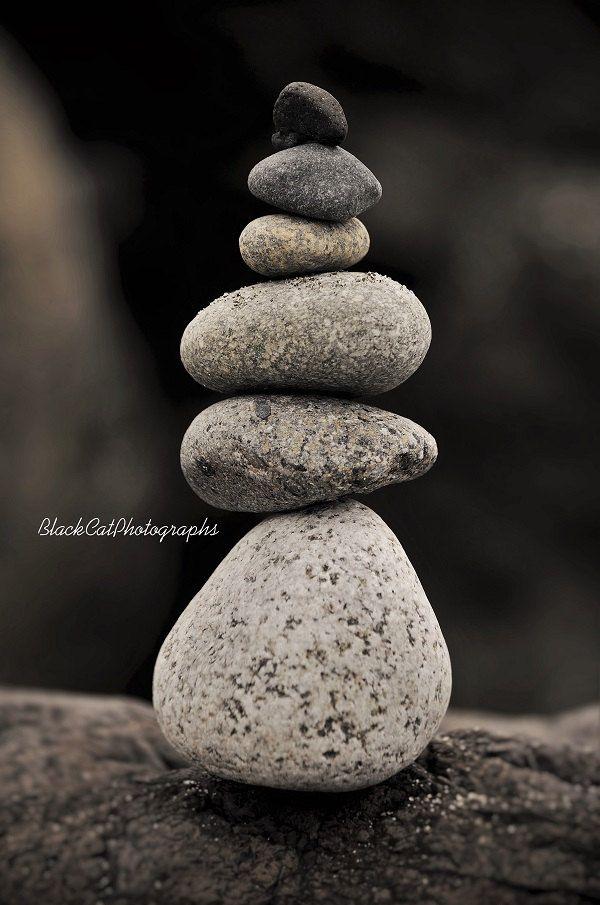 Bathroom Zen Art zen art print, stone cairn photo print, rock art, black and white
