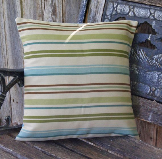 Stripe Outdoor Pillow Cover Patio Porch